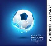 creative soccer vector design | Shutterstock .eps vector #181402817