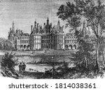 Chambord Castle. Vintage...