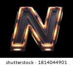 Futuristic Orange Light Font....
