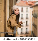Young Beautiful And Happy Asian ...