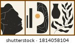 set of three abstract... | Shutterstock .eps vector #1814058104