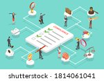 3d isometric flat conceptual... | Shutterstock . vector #1814061041
