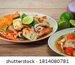 Thai Spicy Mixed Seafood Salad...
