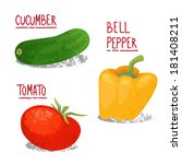 vector vegetables illustration. ... | Shutterstock .eps vector #181408211