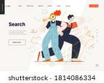 business search topic web...   Shutterstock .eps vector #1814086334