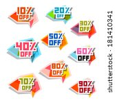 vector discount labels set | Shutterstock .eps vector #181410341