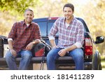 Portrait Of Two Men In Pick Up...