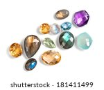 real colorful gemstones... | Shutterstock . vector #181411499