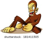 crazy monkey primate character... | Shutterstock .eps vector #181411505