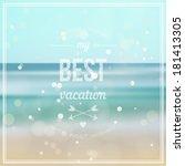 summer background. the best... | Shutterstock .eps vector #181413305