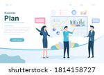 business plan and strategy... | Shutterstock .eps vector #1814158727