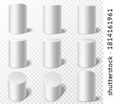 cylinders. realistic round... | Shutterstock .eps vector #1814161961