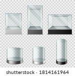 glass showcase. transparent... | Shutterstock .eps vector #1814161964