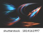 light motion trails. high speed ... | Shutterstock .eps vector #1814161997