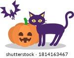 Illustration Of Pumpkin  Black...