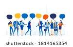 business people with speech... | Shutterstock .eps vector #1814165354