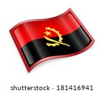 angola flag icon  isolated on... | Shutterstock . vector #181416941