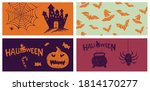 halloween symbols hand drawn... | Shutterstock .eps vector #1814170277