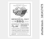 vintage usa memorial day...   Shutterstock . vector #181417475