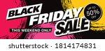 black friday sale banner layout ... | Shutterstock .eps vector #1814174831