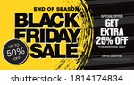 black friday sale banner layout ... | Shutterstock .eps vector #1814174834
