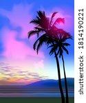 summer tropical beach... | Shutterstock .eps vector #1814190221