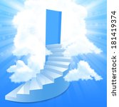 steps  stairway to the sky   Shutterstock . vector #181419374