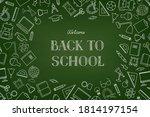 back to school chalkboard... | Shutterstock .eps vector #1814197154