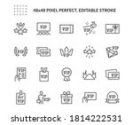 simple set of vip related... | Shutterstock .eps vector #1814222531