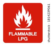 Flammable Lpg Symbol Sign ...