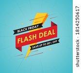 black friday flash deal banner... | Shutterstock .eps vector #1814250617