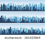 vector horizontal abstract... | Shutterstock .eps vector #181425869