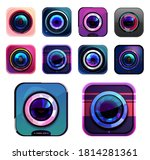 photo and video camera icons ... | Shutterstock .eps vector #1814281361