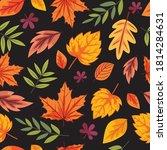 seamless fall leaves pattern... | Shutterstock .eps vector #1814284631