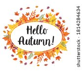 hello autumn template card... | Shutterstock .eps vector #1814284634