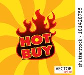 hot buy sticker  with flames | Shutterstock .eps vector #181428755