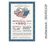 vintage memorial day barbecue... | Shutterstock .eps vector #181431119