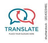 translate vector logo template. ...   Shutterstock .eps vector #1814323481