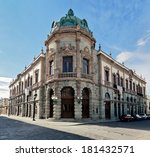 the old building of the teatro... | Shutterstock . vector #181432571