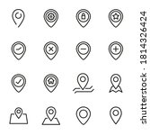 simple set of map pin icons in...