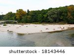 people relaxing at beach of a... | Shutterstock . vector #18143446