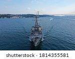 Small photo of U.S. Navy Destroyer warship transits Istanbul Strait in Turkey
