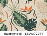 modern exotic jungle plants... | Shutterstock .eps vector #1814372294