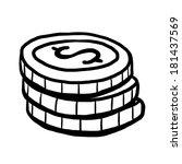 coin   cartoon vector and... | Shutterstock .eps vector #181437569