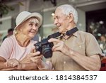 High Spirited Aged Lady In A...