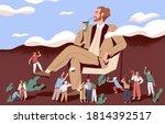 concept of arrogance or bossy...   Shutterstock .eps vector #1814392517
