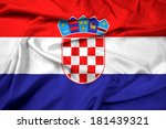 waving croatia flag | Shutterstock . vector #181439321