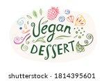 "vector logo illustration ""vegan ...   Shutterstock .eps vector #1814395601"