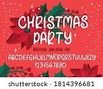 christmas font. holiday... | Shutterstock .eps vector #1814396681