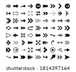 arrows big black set icons.... | Shutterstock .eps vector #1814397164